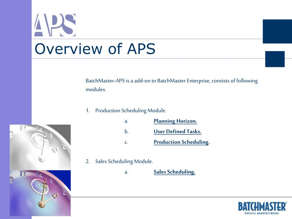 Overview of APS