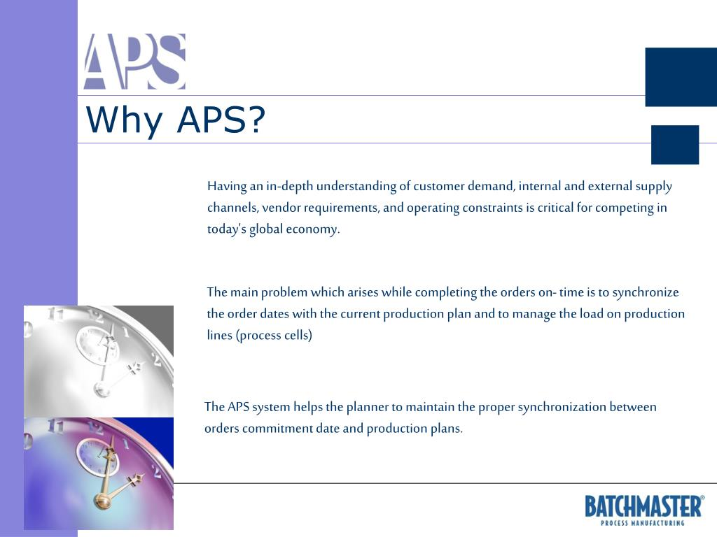 Why APS?
