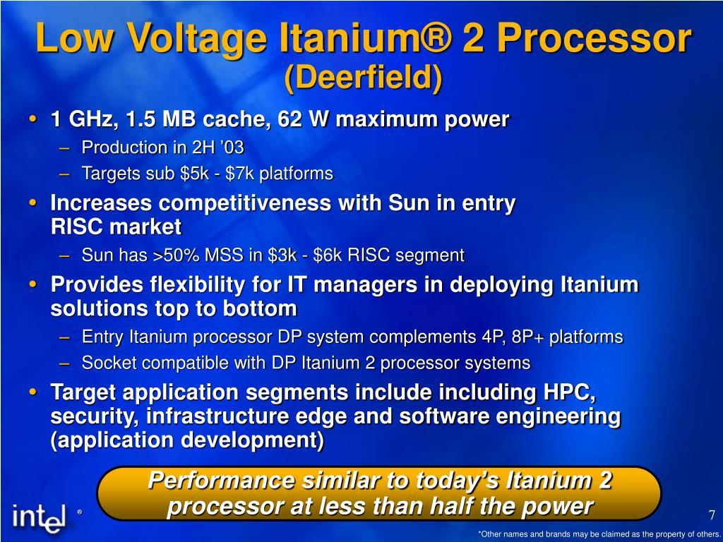Low Voltage Itanium® 2 Processor