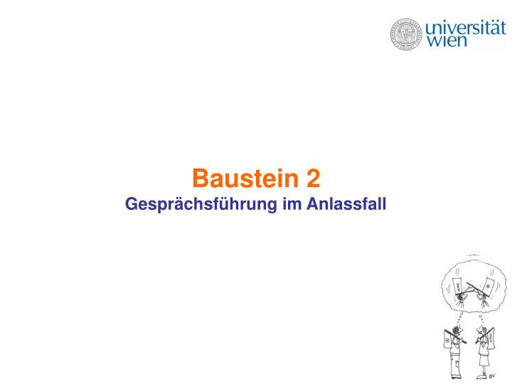 Baustein 2