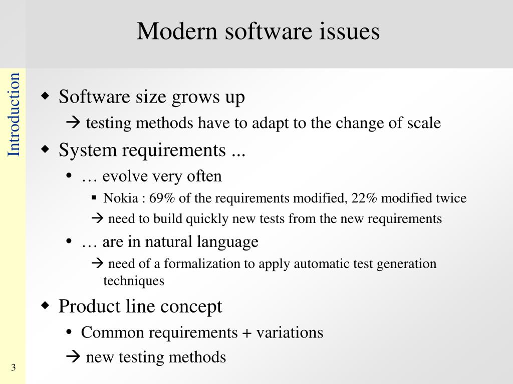 Modern software issues