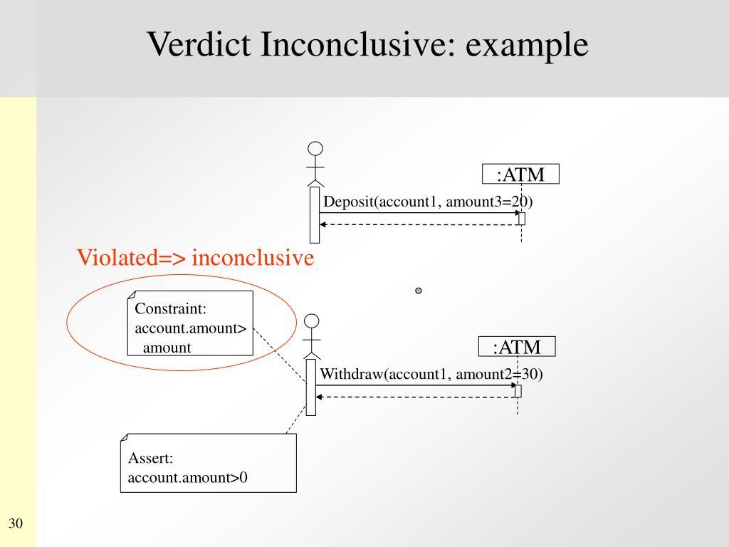 Verdict Inconclusive: example