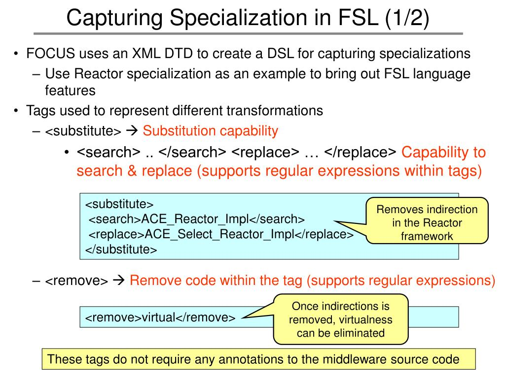 Capturing Specialization in FSL (1/2)