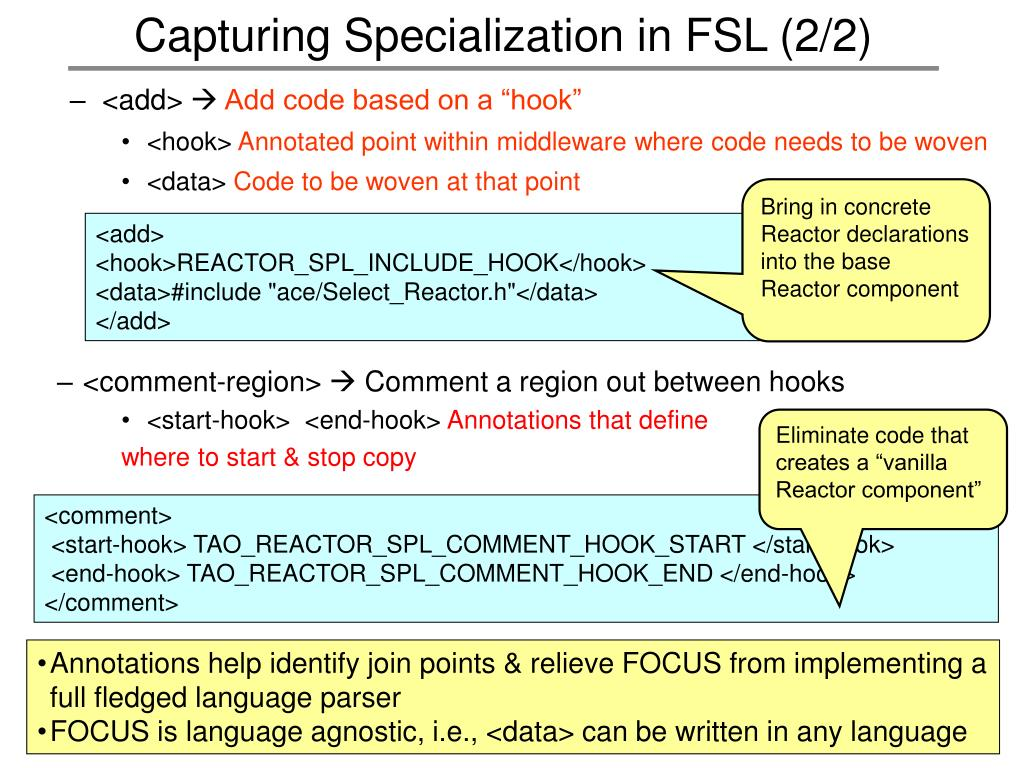 Capturing Specialization in FSL (2/2)