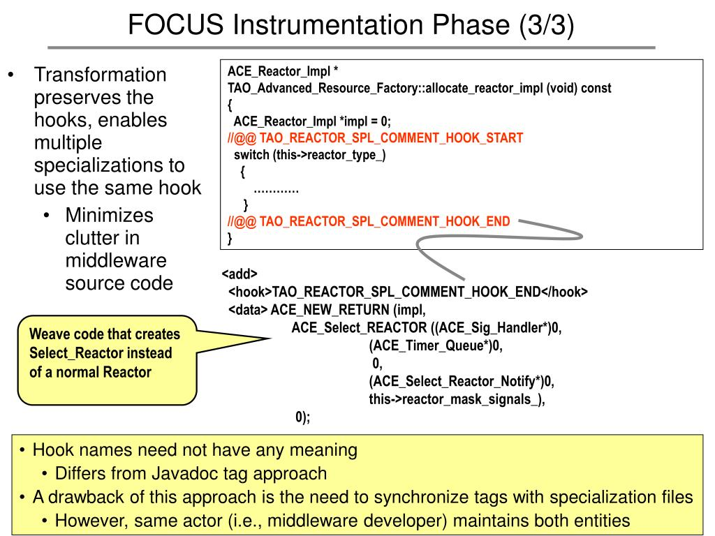 FOCUS Instrumentation Phase (3/3)