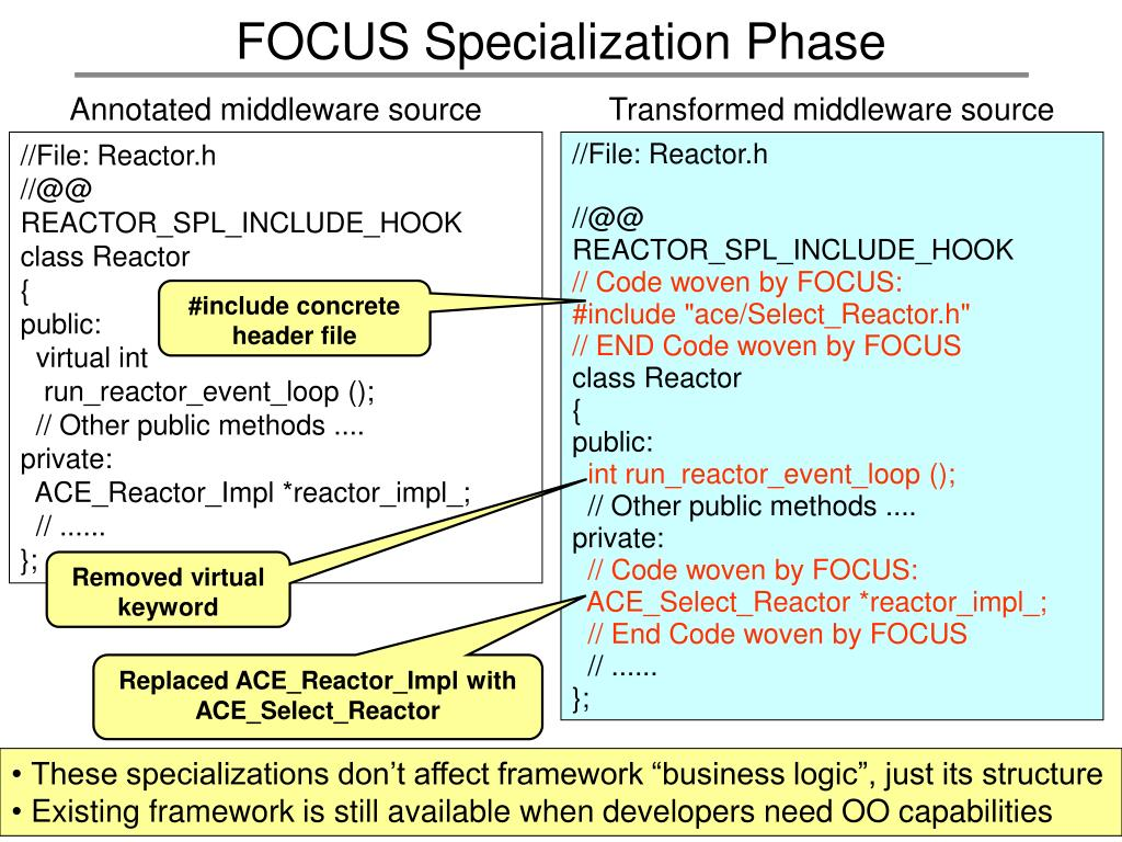 FOCUS Specialization Phase