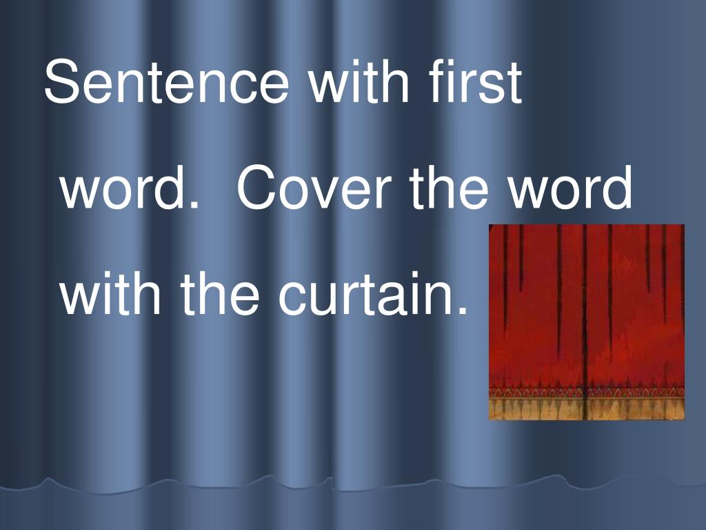 Sentence with first
