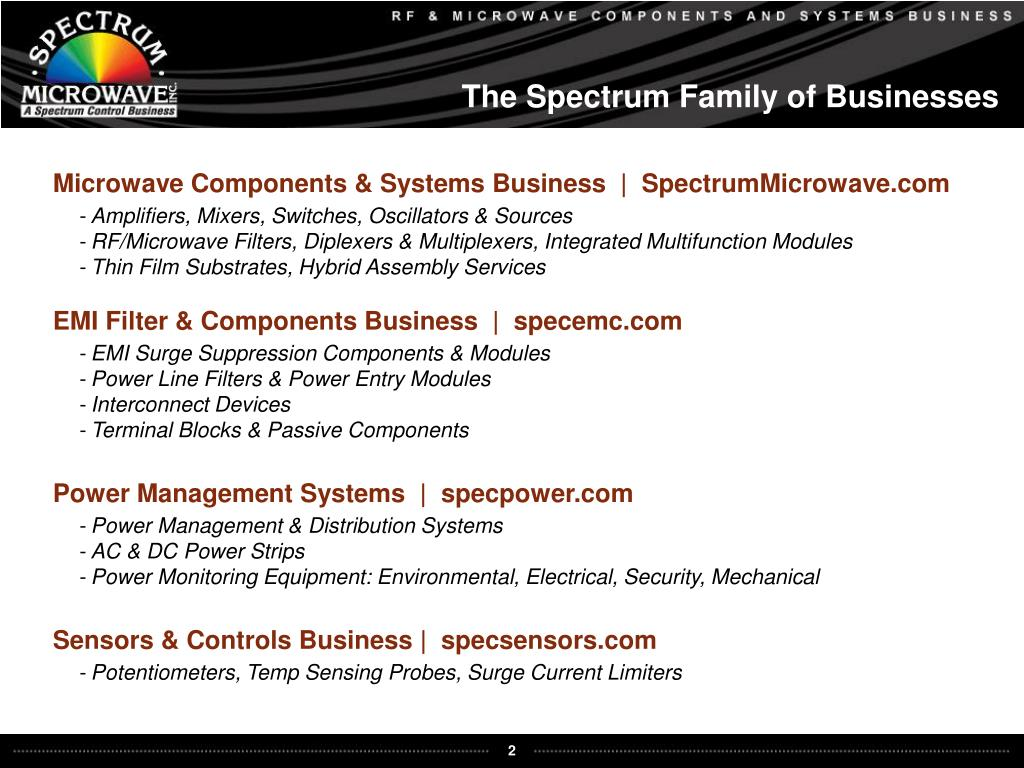 The Spectrum Family of Businesses