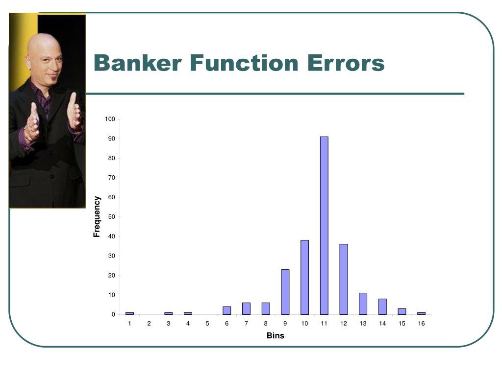 Banker Function Errors
