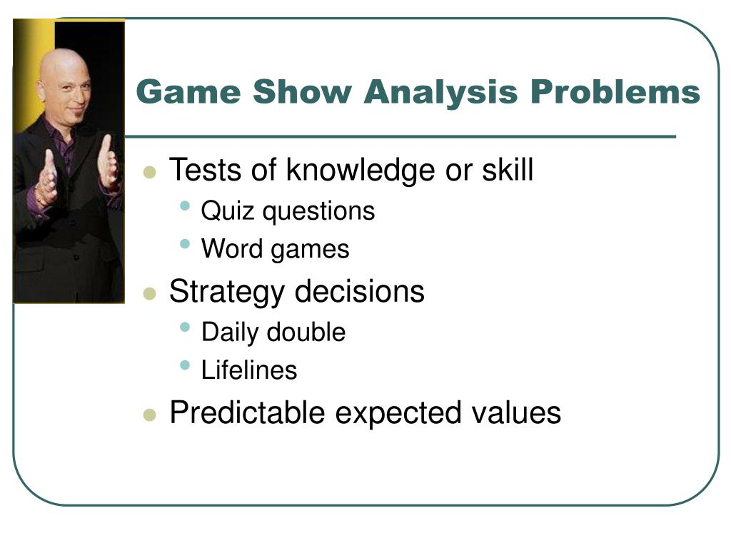 Game Show Analysis Problems