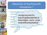 objectives of teaching with simulations