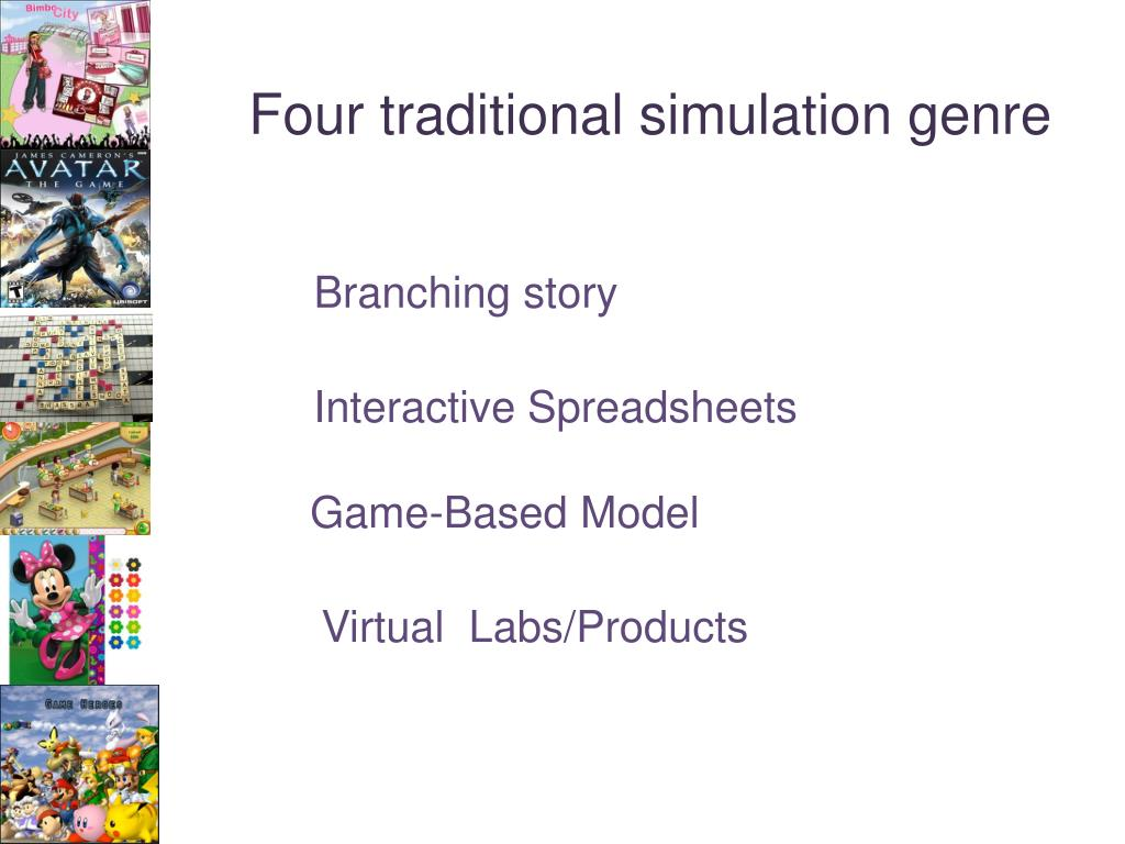 Four traditional simulation genre