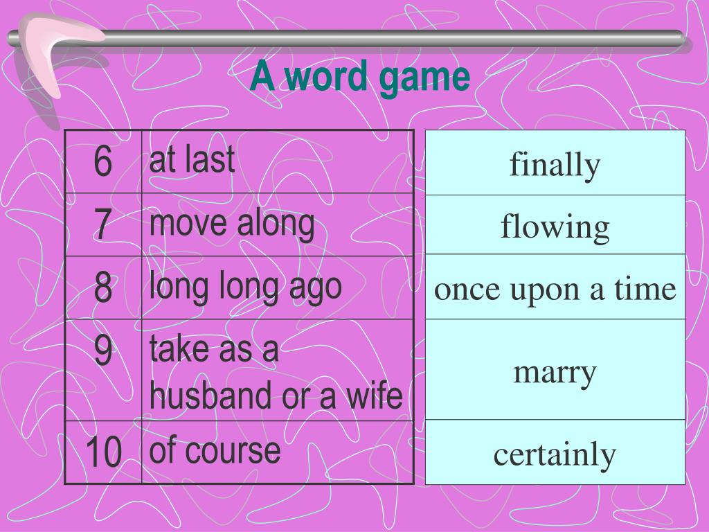 A word game