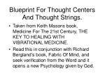 blueprint for thought centers and thought strings