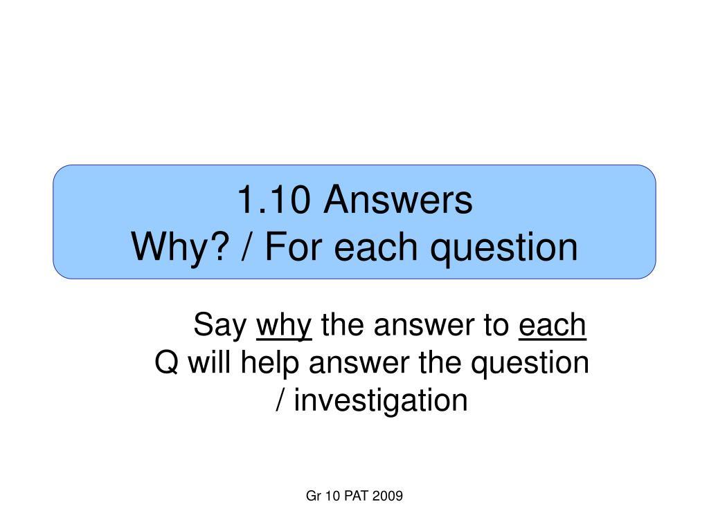 1.10 Answers