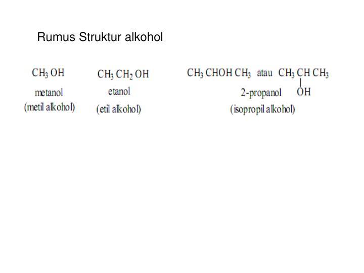 Rumus Struktur alkohol