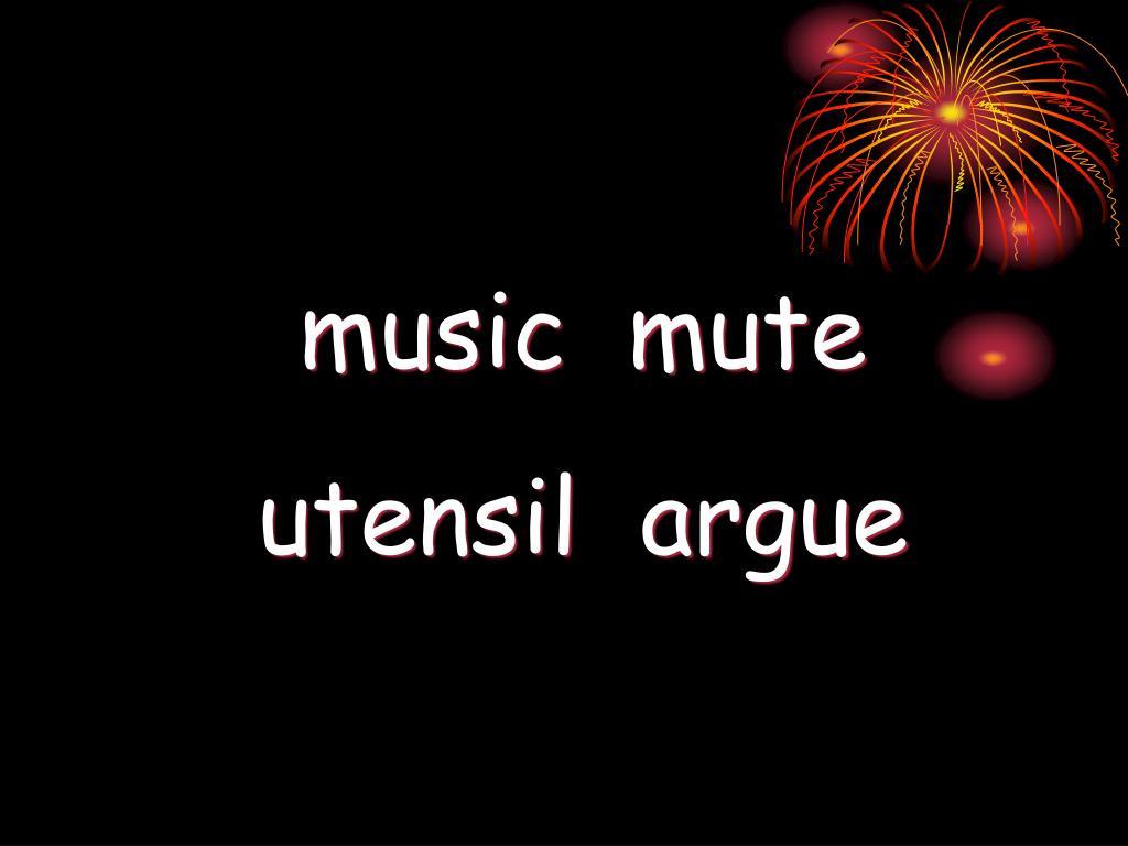music  mute