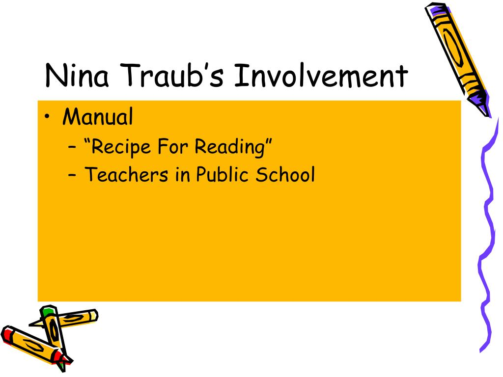 Nina Traub's Involvement