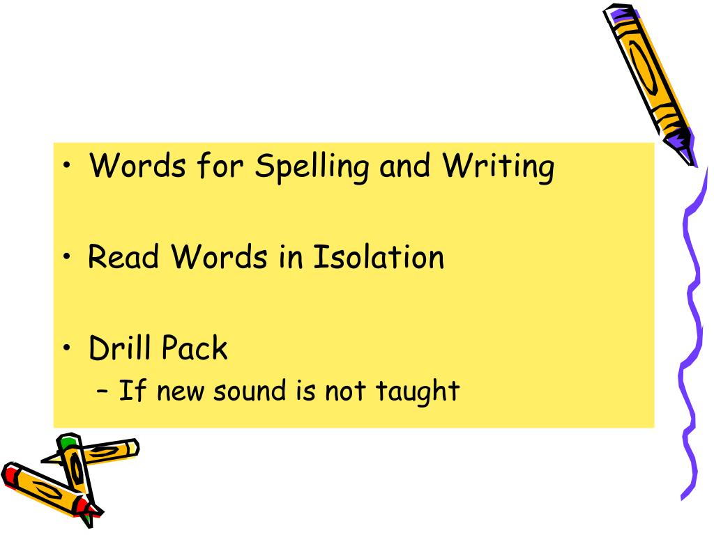 Words for Spelling and Writing