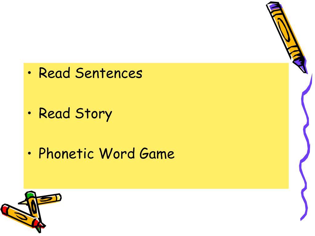 Read Sentences