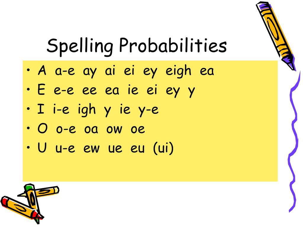 Spelling Probabilities