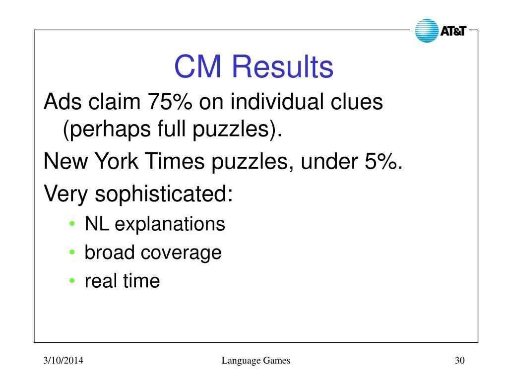 CM Results