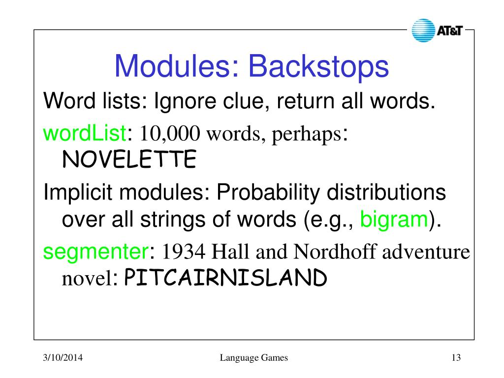 Modules: Backstops