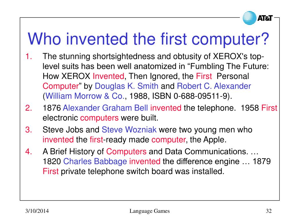 Who invented the first computer?
