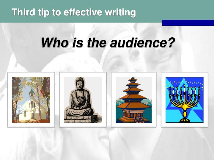 Third tip to effective writing