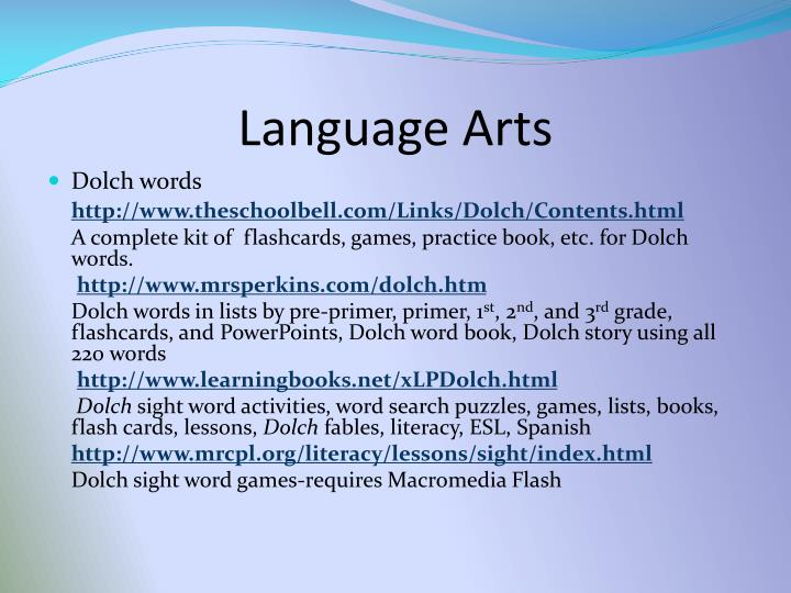 Language arts l.jpg