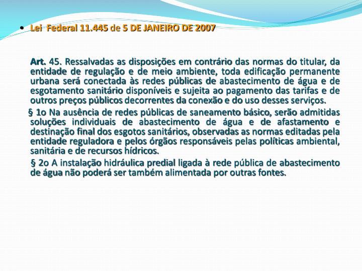 Lei  Federal 11.445
