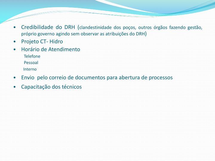 Credibilidade do DRH (