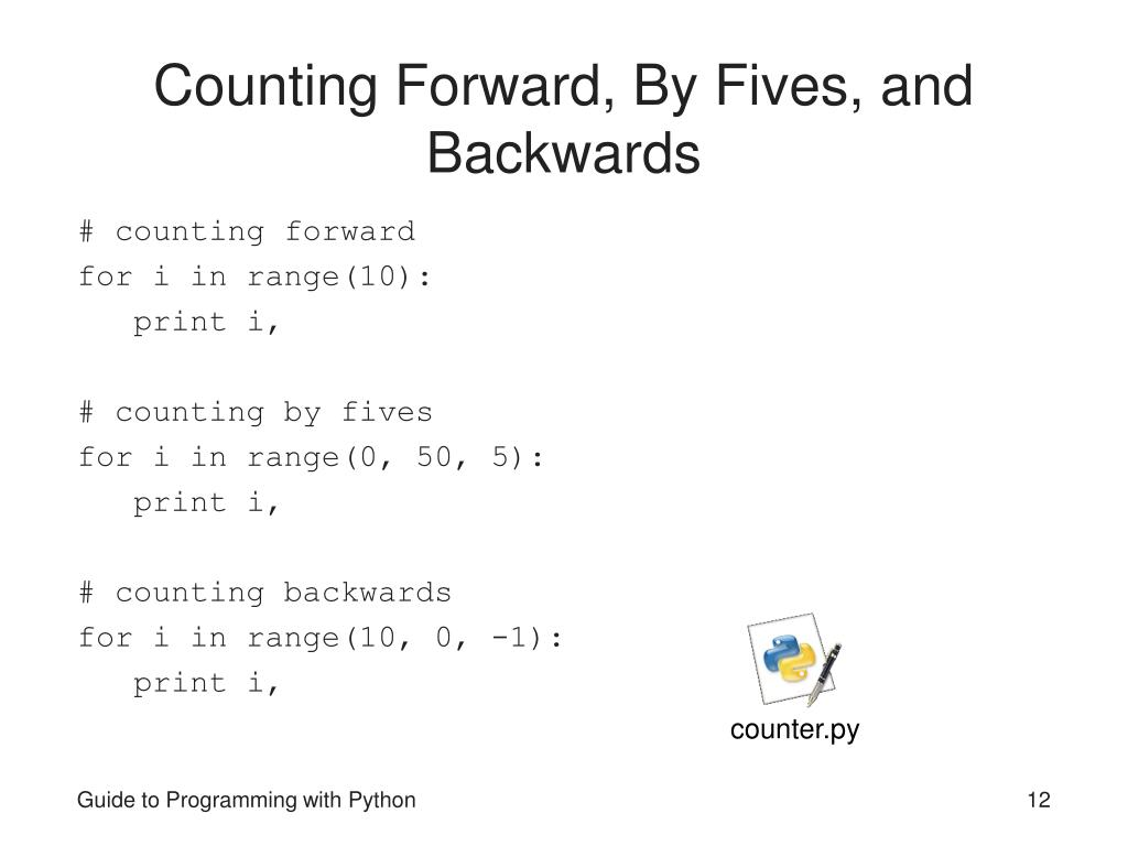 Counting Forward, By Fives, and Backwards