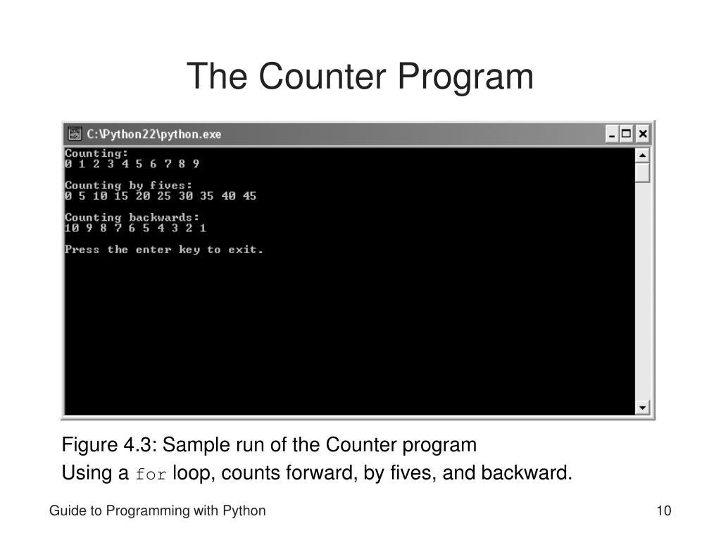 The Counter Program