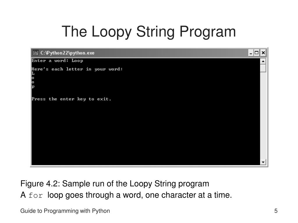 The Loopy String Program