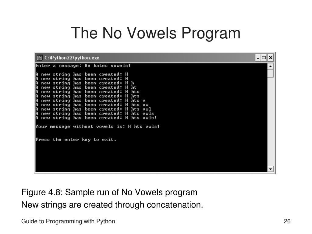 The No Vowels Program