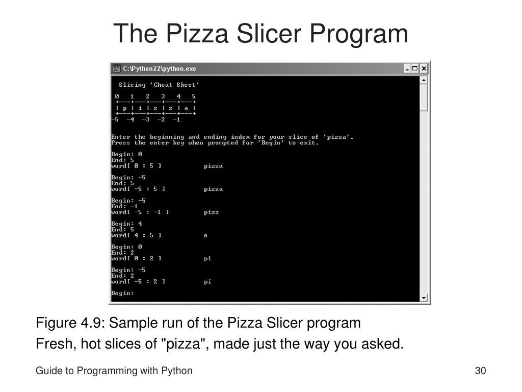 The Pizza Slicer Program