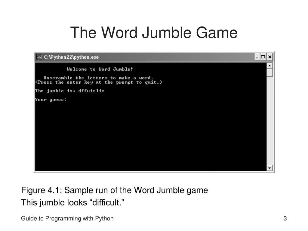 The Word Jumble Game