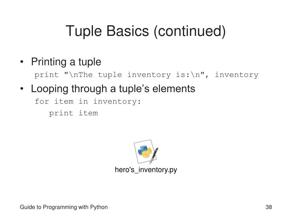 Tuple Basics (continued)