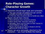 role playing games character growth