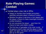 role playing games combat
