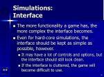 simulations interface