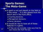 sports games the meta game