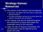 strategy games resources