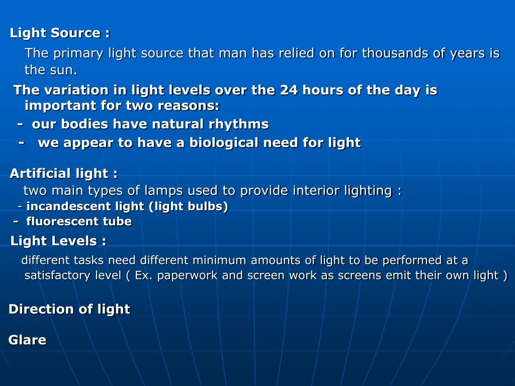 Light Source :