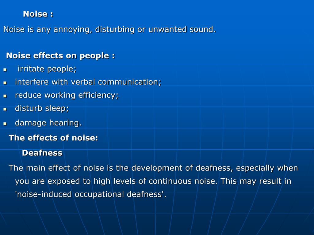 Noise :