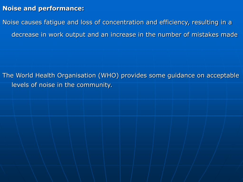 Noise and performance: