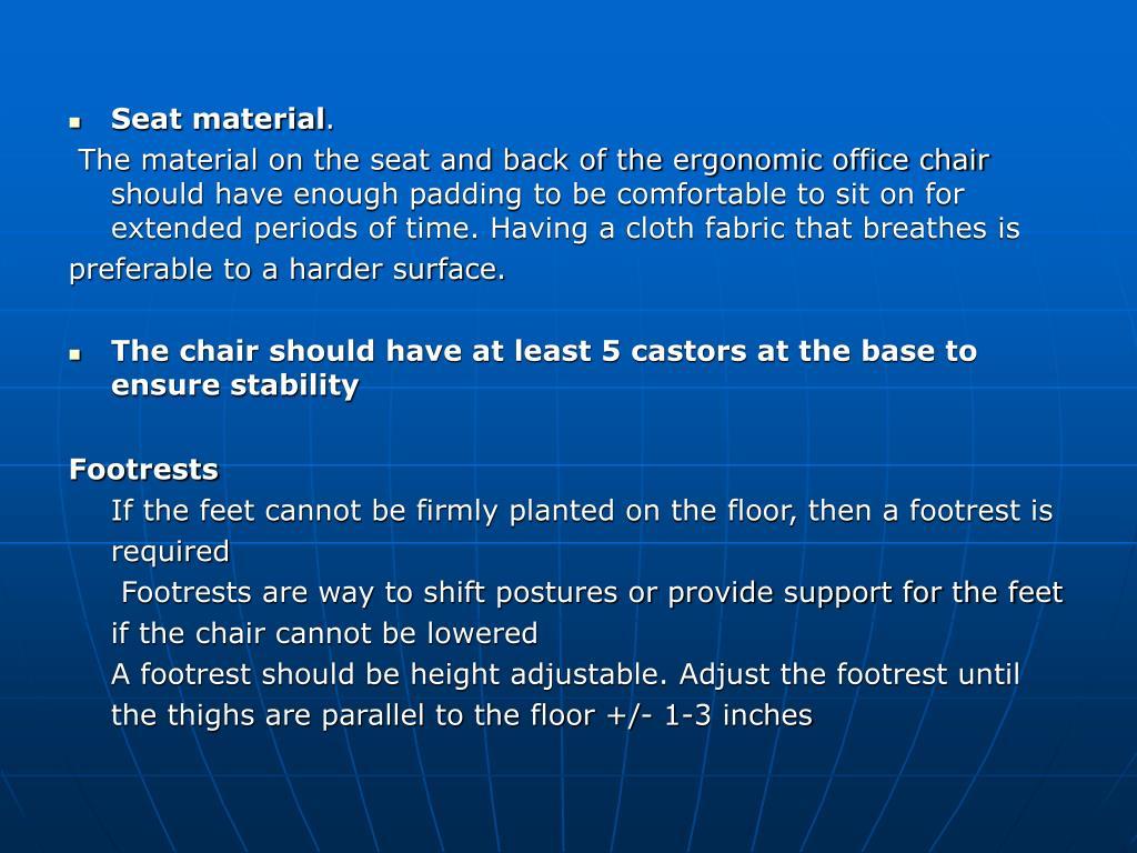 Seat material