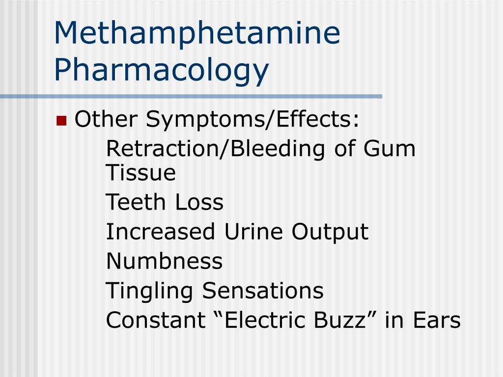Methamphetamine Pharmacology