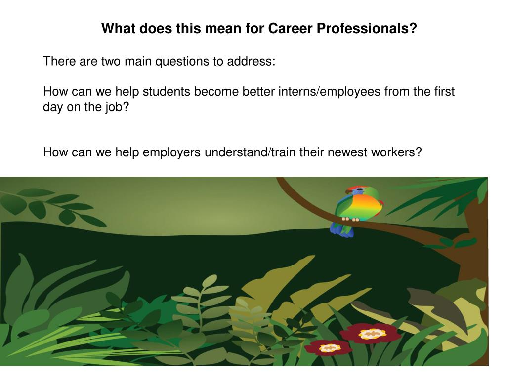 What does this mean for Career Professionals?